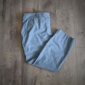 J Crew Chambray Denim Capri Trouser Crop Pant 14
